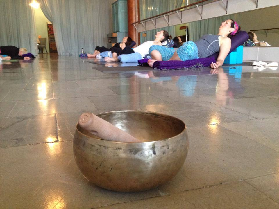 Restorative session at Jenstar Yoga and Dance in Green Bay/De Pere, WI 2014